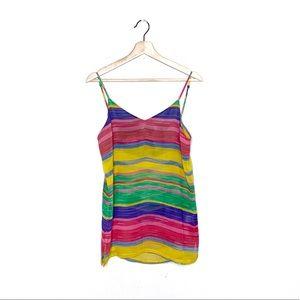SHOW ME YOUR MUMU multi watercolor striped top